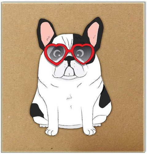 Heart Glasses Frenchie
