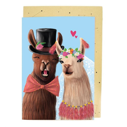 Large Card: Llama Wedding