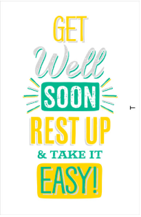 Large Card : Get Well Soon Rest Up