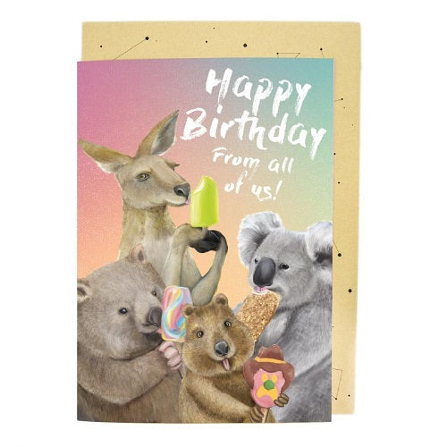 Large Card: Ice Cream Critters