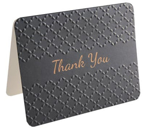 Thank You Pack - Foil, Embossed Black