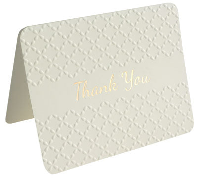 Thank You Pack - Foil, Embossed Creme