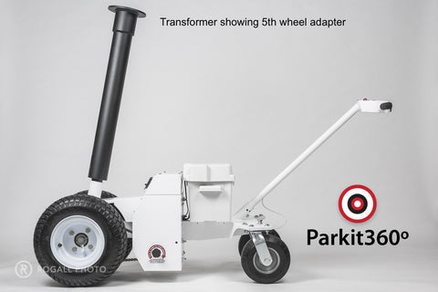 Transformer 6800kg Capacity Electric Powered Trailer Dolly Showing 5th Wheel Adapter