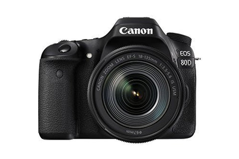 Canon EOS 80D Digital SLR Kit with EF-S 18-135mm f/3.5-5.6 Image Stabilization USM Lens
