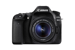 Canon EOS 80D Digital SLR Kit with EF-S 18-55mm f/3.5-5.6 Image Stabilization STM Lens (Black)