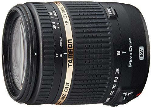 Tamron AF 18-270mm f/3.5-6.3 Di II VC PZD LD Aspherical IF Macro Zoom Lens with Built in Motor