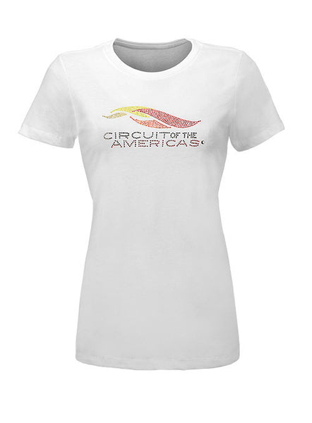 Circuit of The Americas Ladies Rhinestone Logo T-Shirt