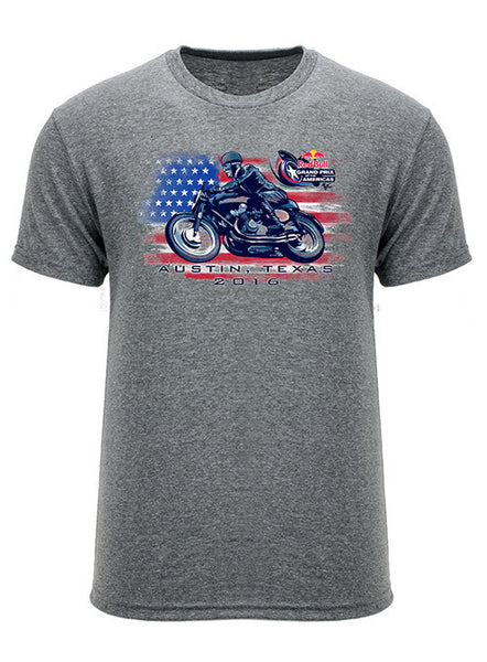 2016 Red Bull Grand Prix of The Americas Retro Bike T-shirt