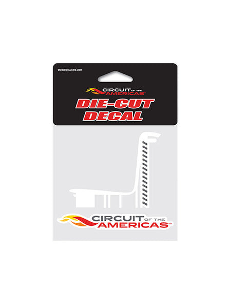 Circuit of The Americas Tower Outline Die Cut Decal