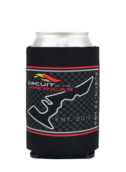 Circuit of The Americas Checkered Can Cooler