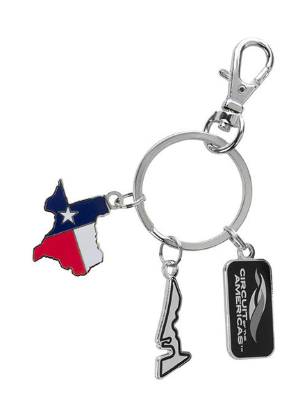 Circuit of The Americas 3 Piece Keychain