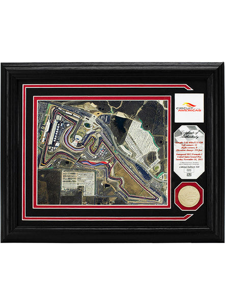 Circuit of The Americas Framed Print