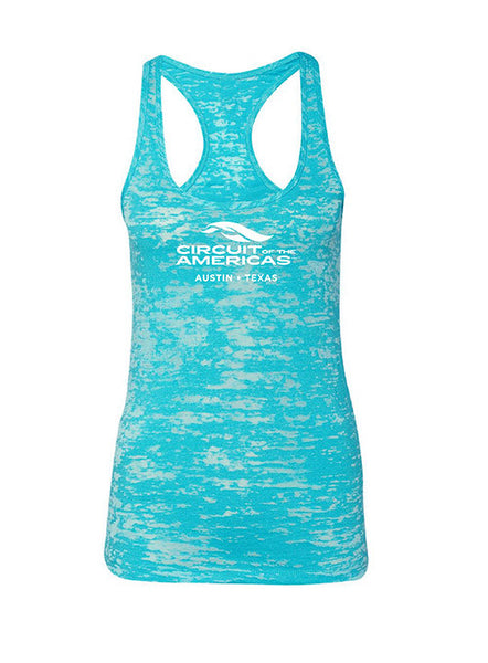 Circuit of The Americas Ladies Burnout Logo Tank Top