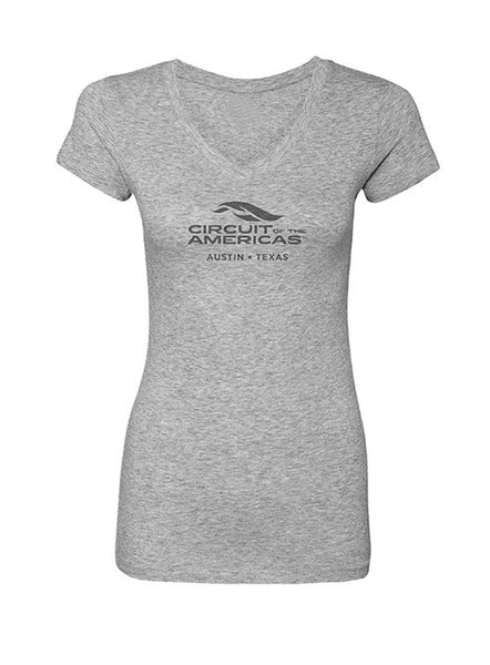 Circuit of The Americas Ladies V-Neck Logo T-Shirt