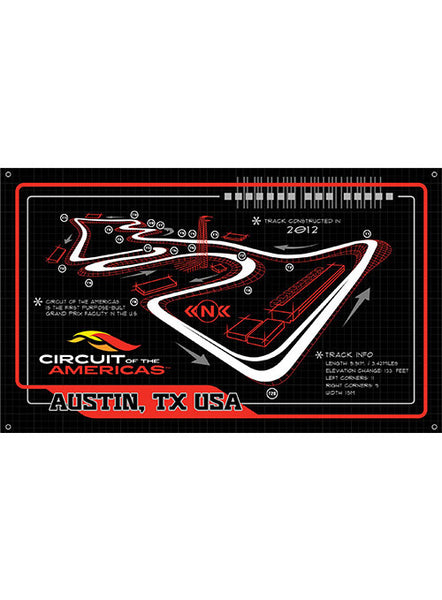 Circuit of The Americas Track Outline Banner