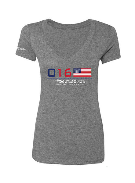 2016 F1® American Flag Ladies T-shirt