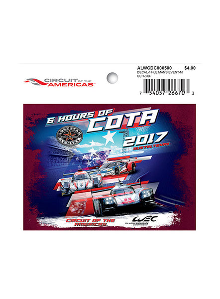 2017 Lone Star Le Mans Event Decal