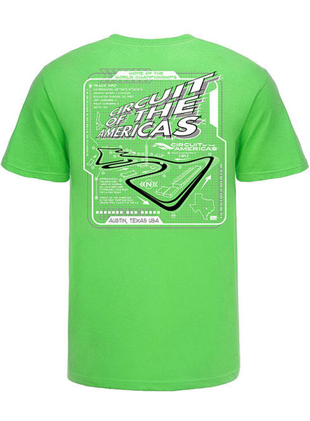 Circuit of The Americas Track Outline T-Shirt