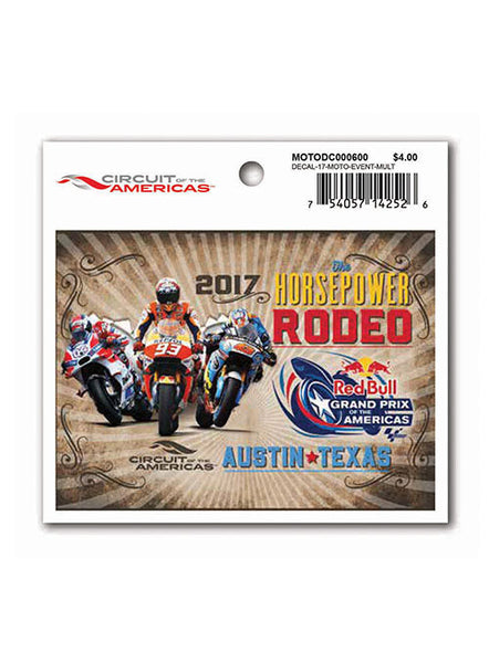 2017 Red Bull Grand Prix of The Americas Event Decal