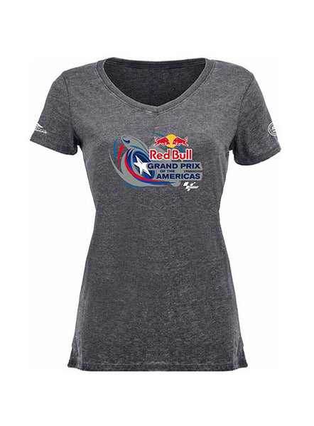 2017 Red Bull Grand Prix of The Americas Ladies Logo V-neck