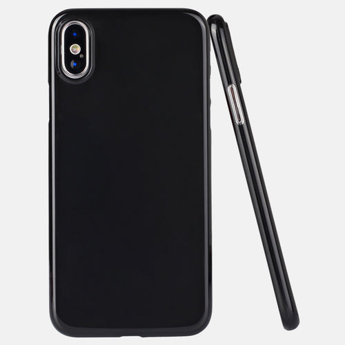 0.35mm ultra thin shiny PP phone cover for iPhone X glossy case, grip well bottom closed for iPhone X case-medome technology麦多米科技