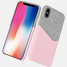 Premium quality slim PU leather case for iPhone with cardholder, grip well for iPhone X leather case with metal button-medome technology麦多米