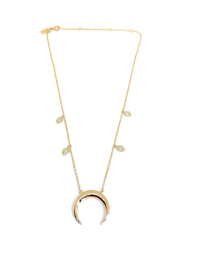 Drop Horn Choker Necklace
