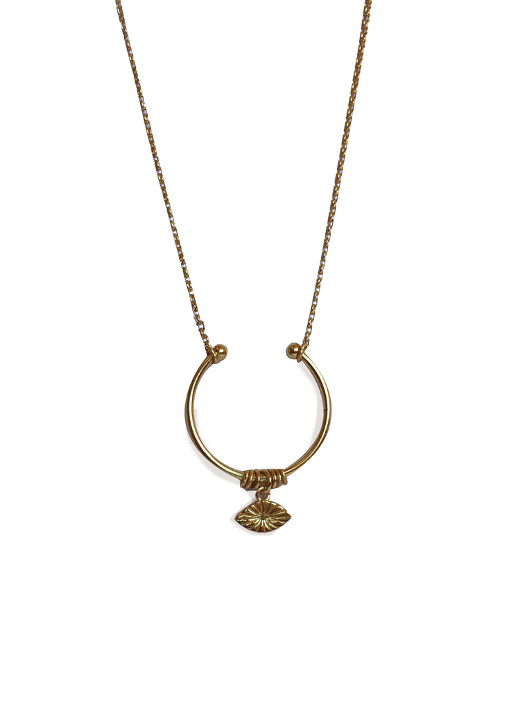 Half round Eye Necklace