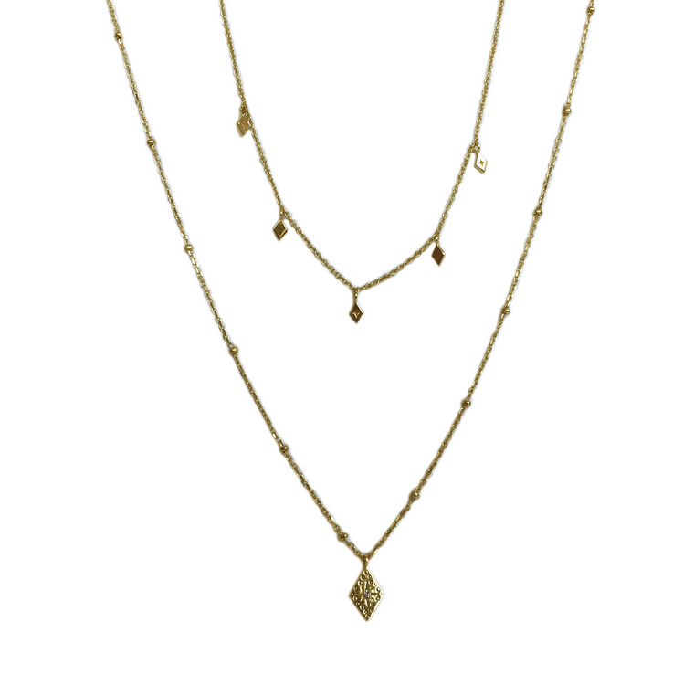 Double Losange Necklace