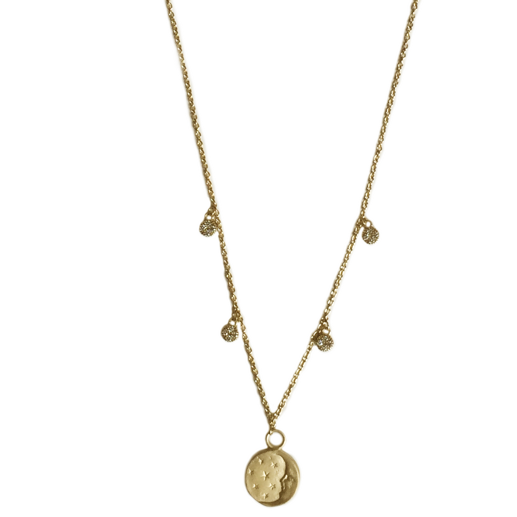 Moon Medal Necklace