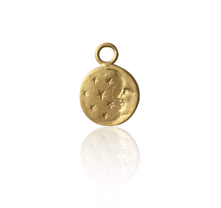 Medal Moon and stars pendant