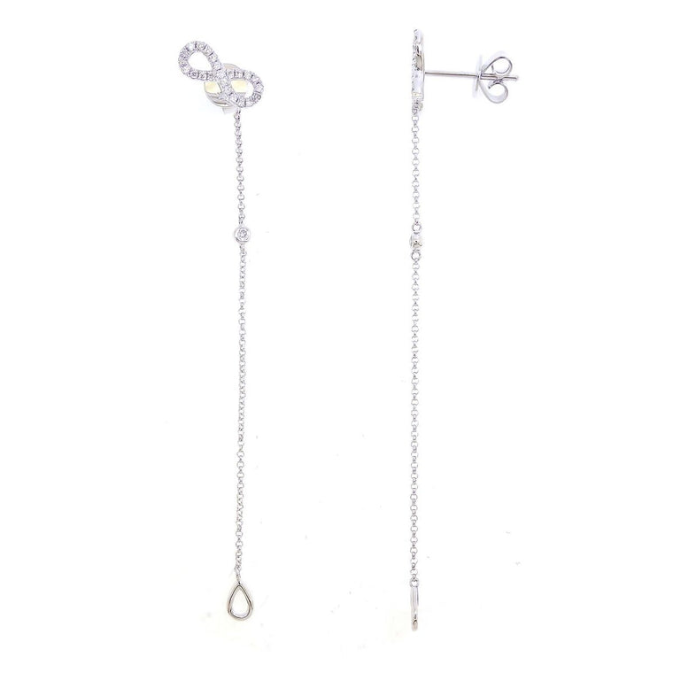 Diamond Infinity Earrings