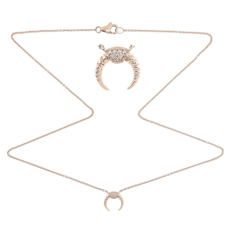 Horn Diamond Necklace