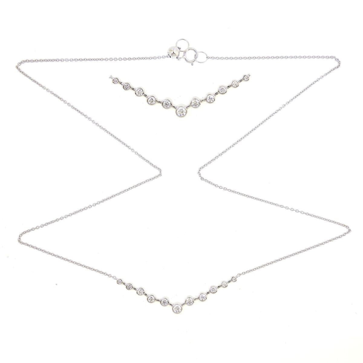 V Diamond Necklace