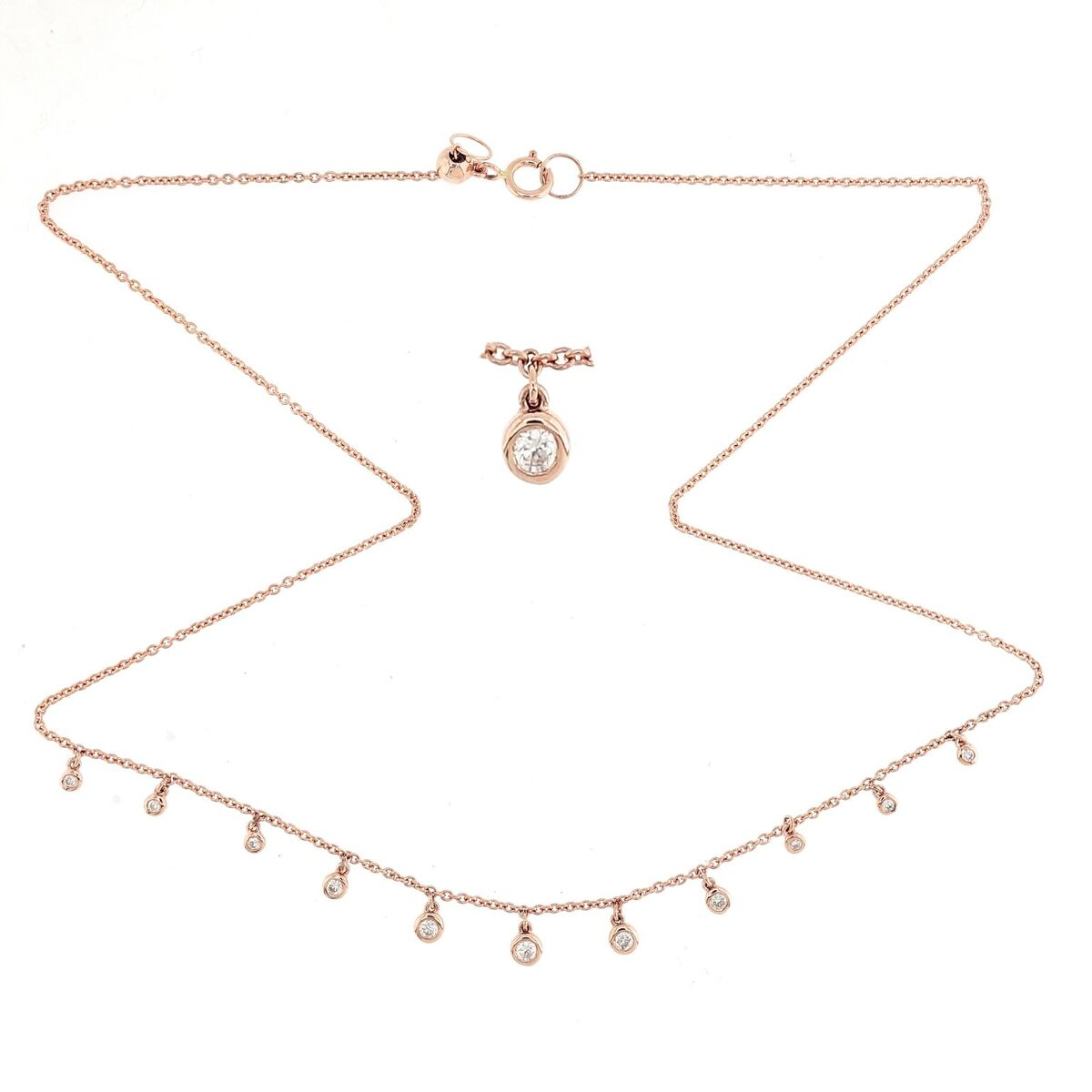 Dangeling Chocker Diamond Necklace