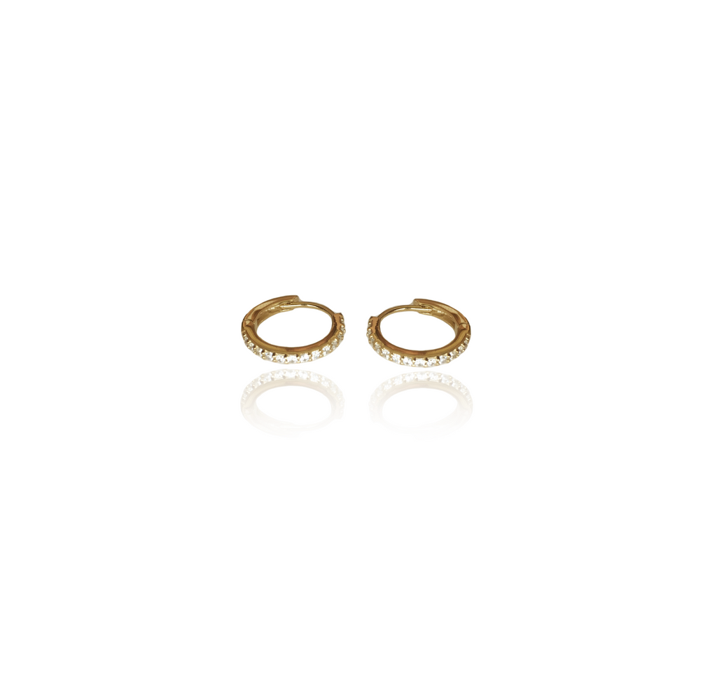 Stone set Hoop Earrings