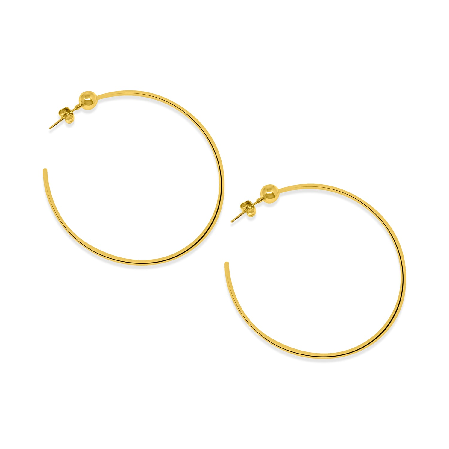 Sphere Hoop Earrings