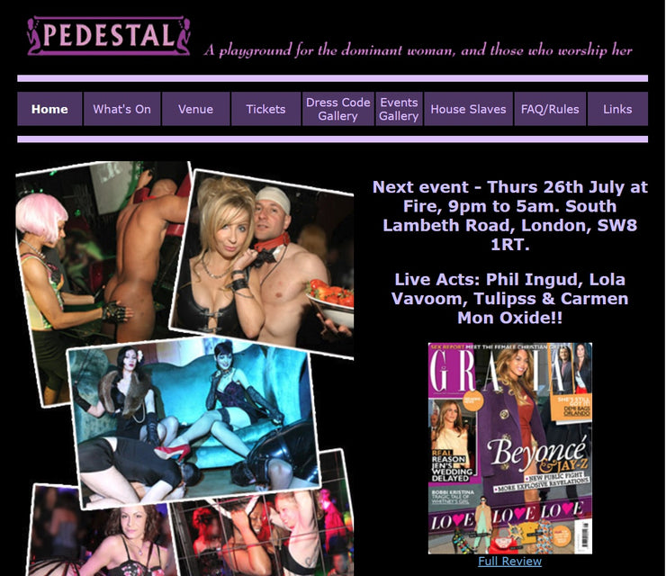 July 2018 Club Pedestal London Femdom Event Review