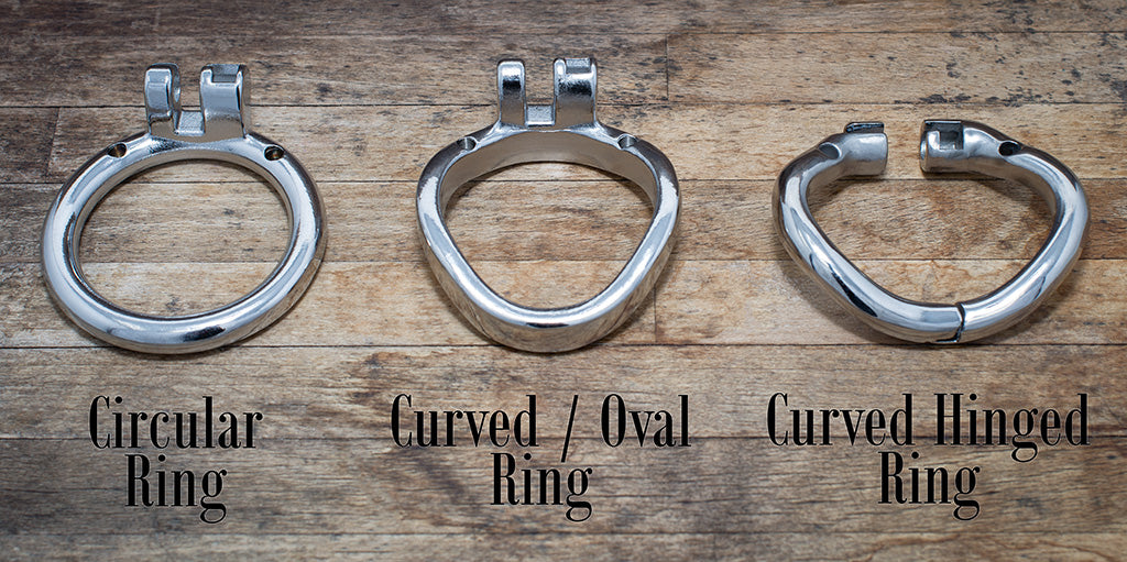 3 different chastity back rings