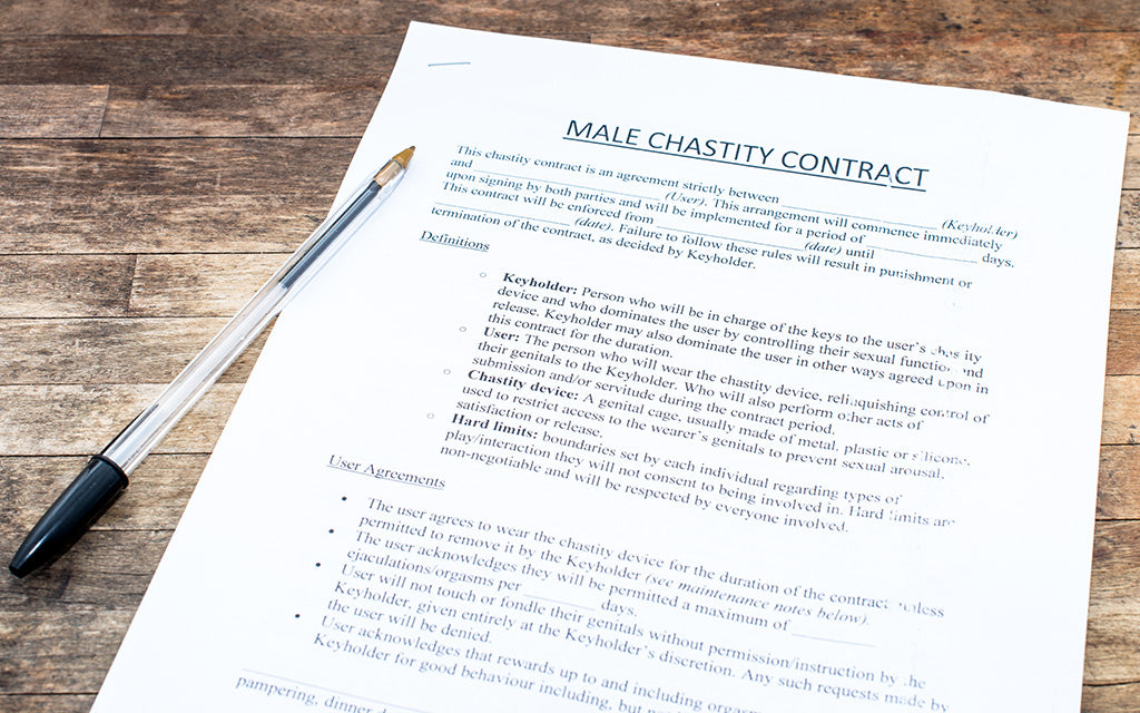 Male chastity contract
