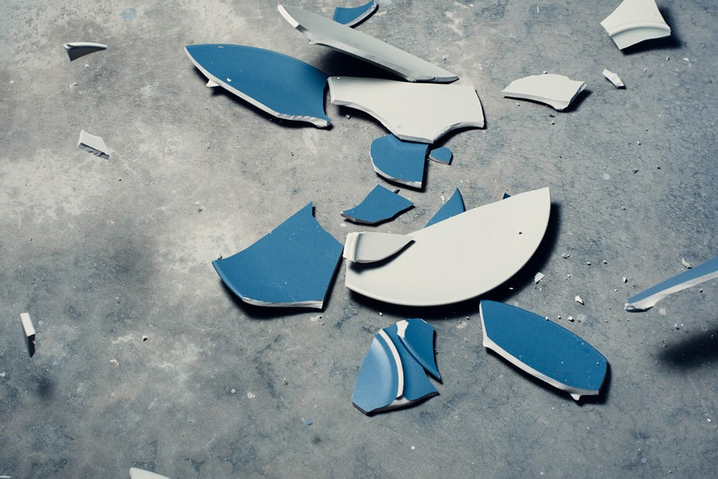 A smashed plate