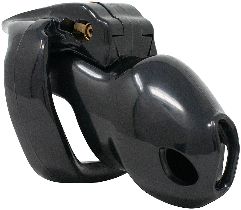 Small black Holy Trainer V4 chastity device.