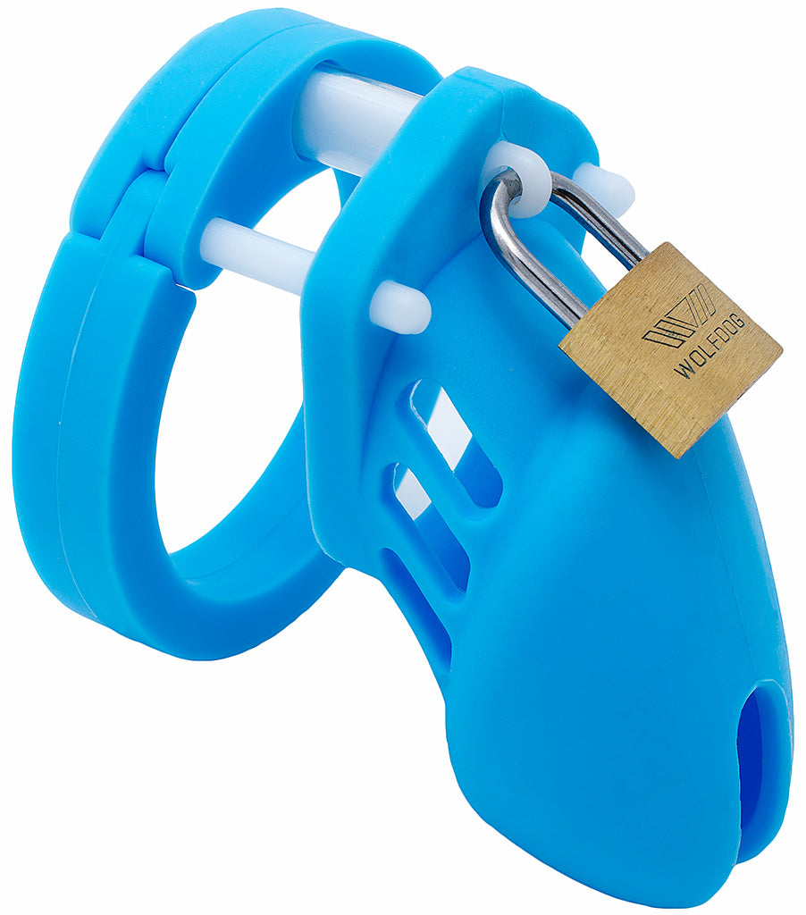 Blue small HoD600S silicone male chastity device