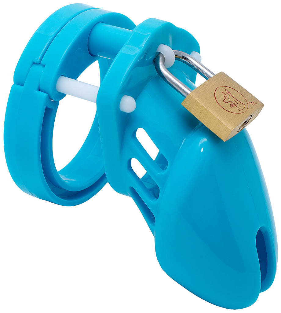 Blue small HoD600 male chastity device