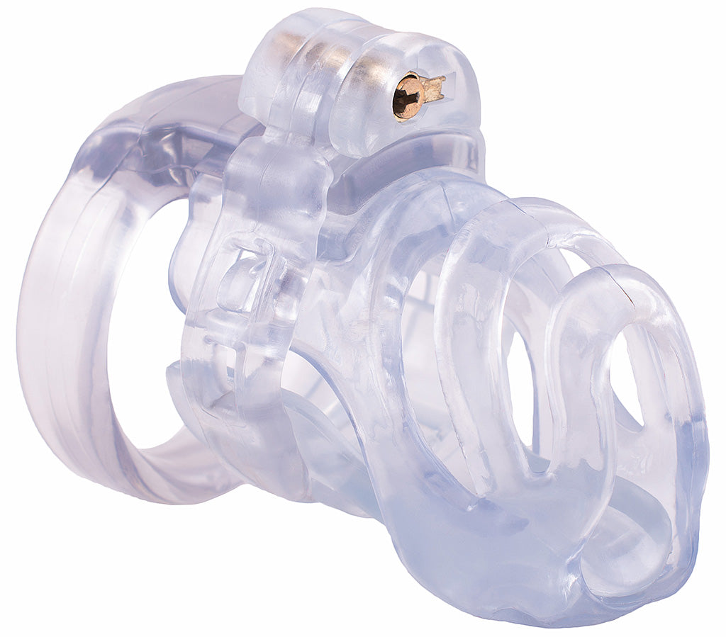 Small clear PC1 male chastity device