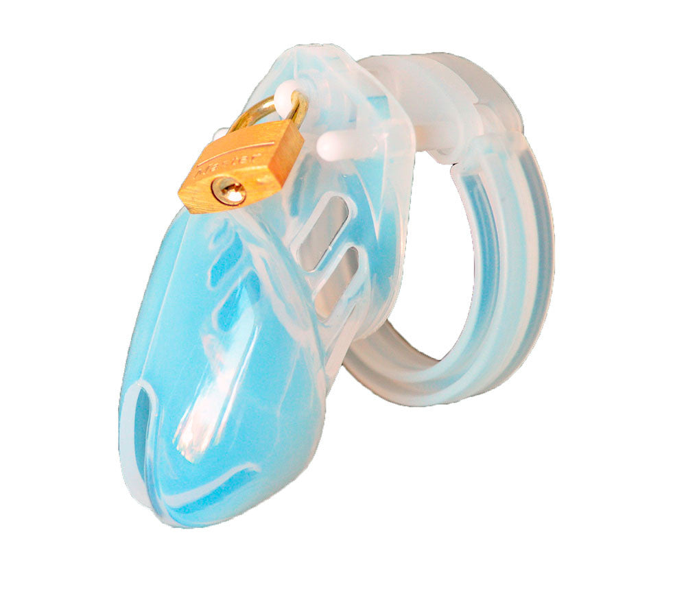 Clear HoD600S silicone male chastity device