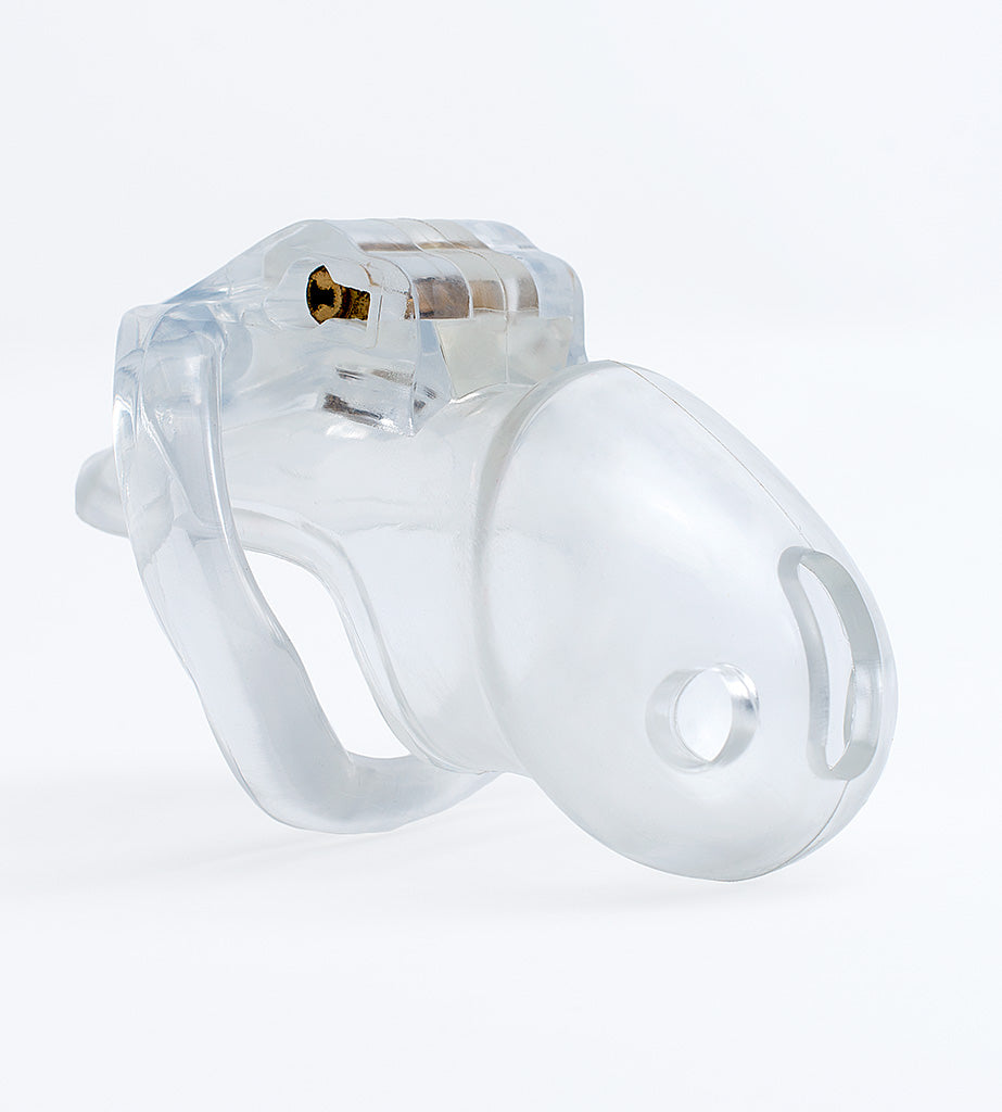 Small clear Holy Trainer V3 chastity device