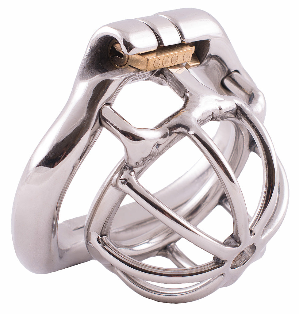 Small S100 steel male chastity device
