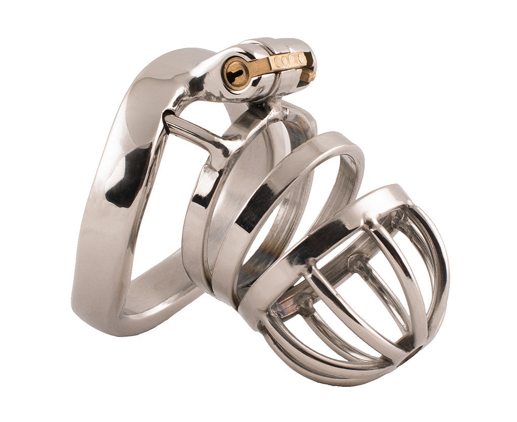 Small steel HoD S77 male chastity device