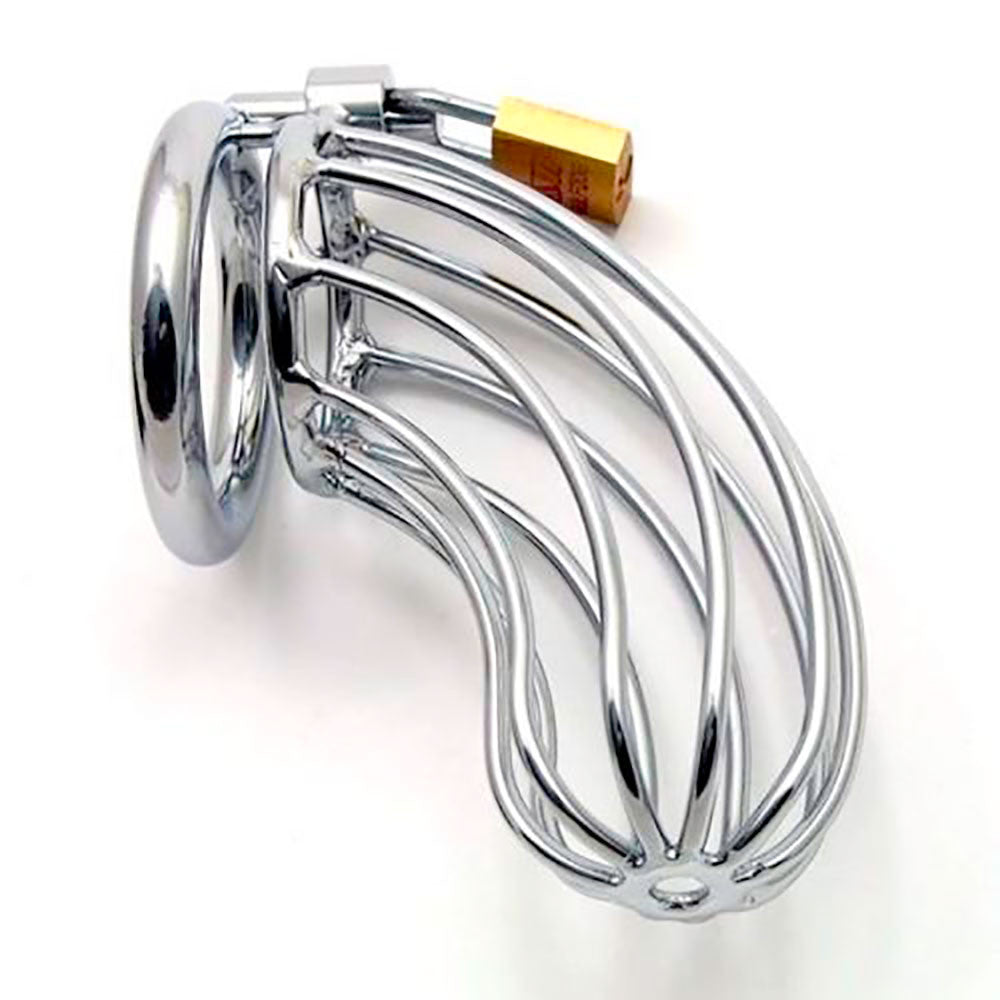 Steel bird cage chastity device